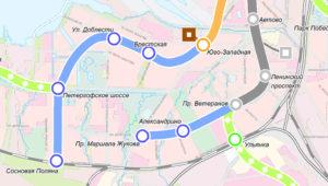 схема развития метро в СПб