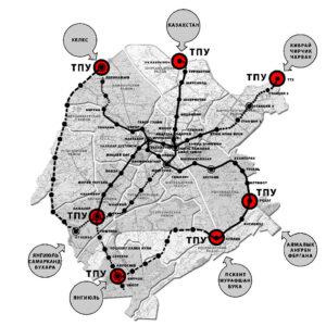 Схема развития метро Ташкента