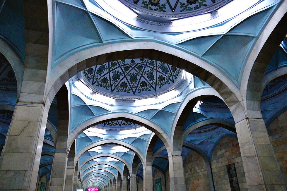 Станция метро «Алишера Навои» в Ташкенте