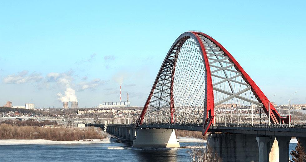 Фото - мост в Новосибирске